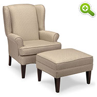 Wingback Chair, Tapered Legs - SPF603