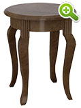 Carnegie Hill End Table, Round - SPFCH25R