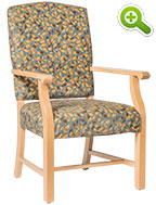 Tuscan Wood Frame Resident Room Chair - SPFTUSCAN