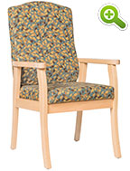 Florence Flex Back Wood Frame Resident Room Chair - SPFFLORENCE